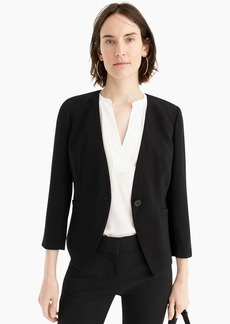J.Crew Collarless fitted blazer in 365 crepe
