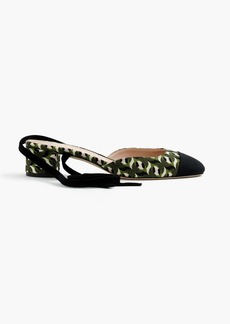 Collection ankle-wrap heels in Ratti® geometric tile print