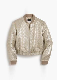J.Crew Collection bomber jacket in Ratti® chevron jacquard
