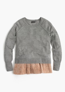 J.Crew Collection crewneck with layered lamé