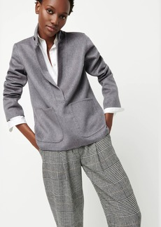 J.Crew Collection double-faced cashmere funnelneck popover jacket
