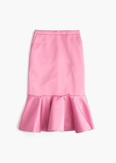 J.Crew Collection fluted skirt in Italian satin