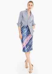 J.Crew Collection hand-sequined pencil skirt