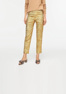 J.Crew Collection high-rise cigarette pant in metallic leaf jacquard