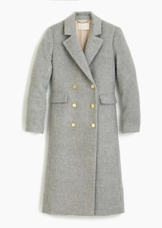 J.Crew Collection long brushed wool topcoat