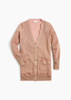 J.Crew Collection long double-knit sparkle cardigan sweater