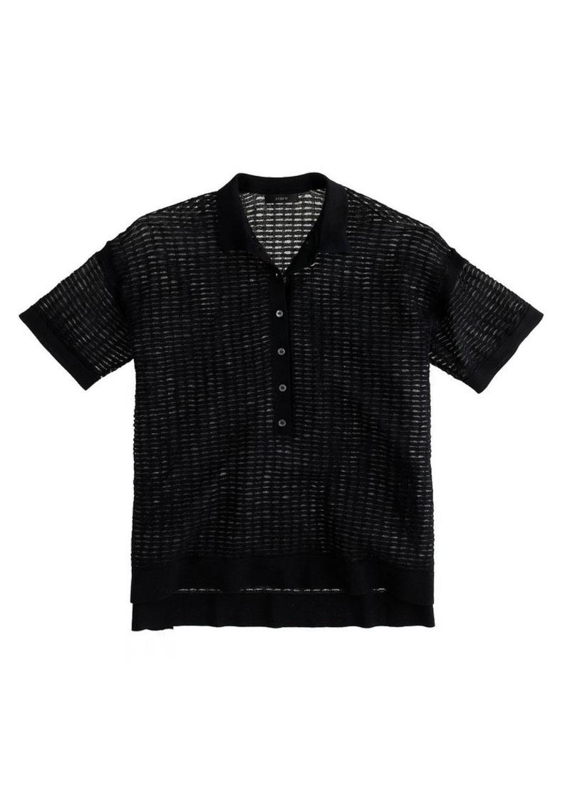 J.Crew Collection mesh polo shirt