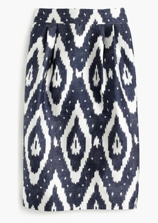 J.Crew Collection midi skirt in ikat