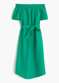 J.Crew Collection off-the-shoulder dress in silk