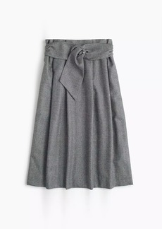 Collection paper-bag waist skirt in English flannel