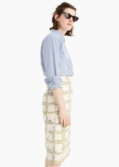 J.Crew Collection pencil skirt in grid jacquard