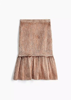 Collection rose-gold fluted skirt