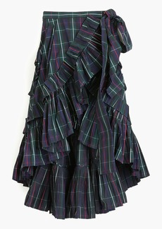 J.Crew Collection ruffle skirt in yarn-dyed plaid