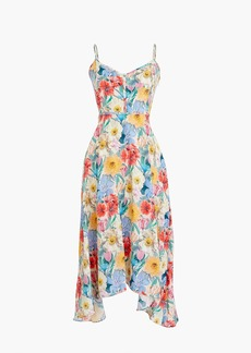 J.Crew Collection silk flowing party dress in Liberty® melody floral