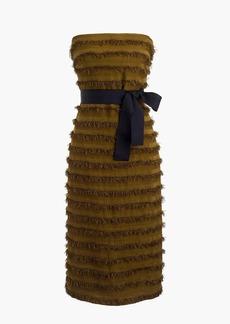 Collection strapless striped raffia dress