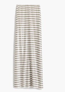 Collection stripe sequin maxi skirt