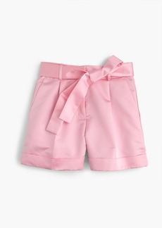 J.Crew Collection tie-front satin short