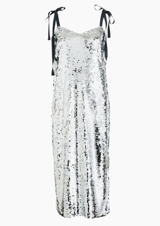 Collection tie-shoulder sequin dress