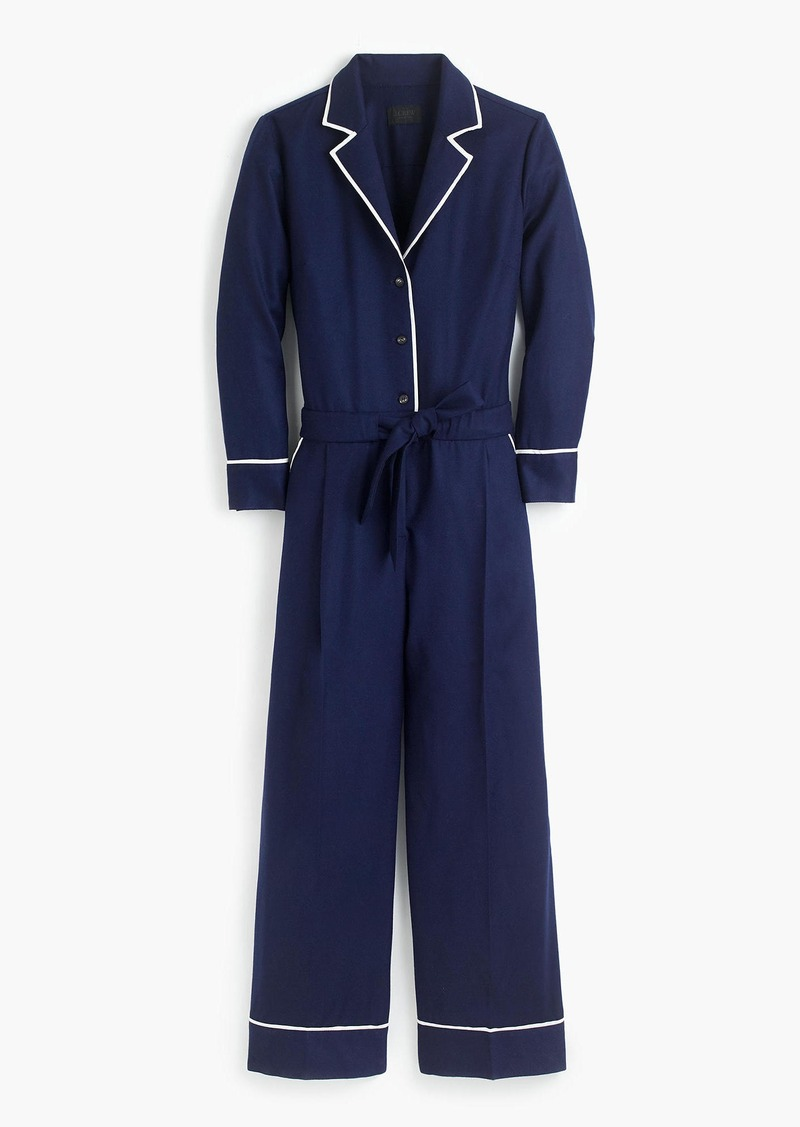 J.Crew Collection tipped wool flannel jumpsuit