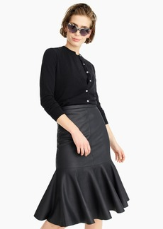 J.Crew Collection trumpet skirt in double-faced leather