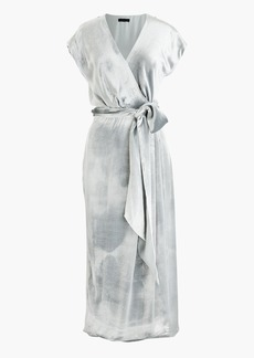 Collection velvet wrap dress