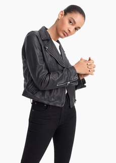 J.Crew Collection washed leather motorcycle jacket