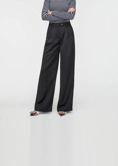 J.Crew Collection high-rise wide-leg pant in satin-backed crepe