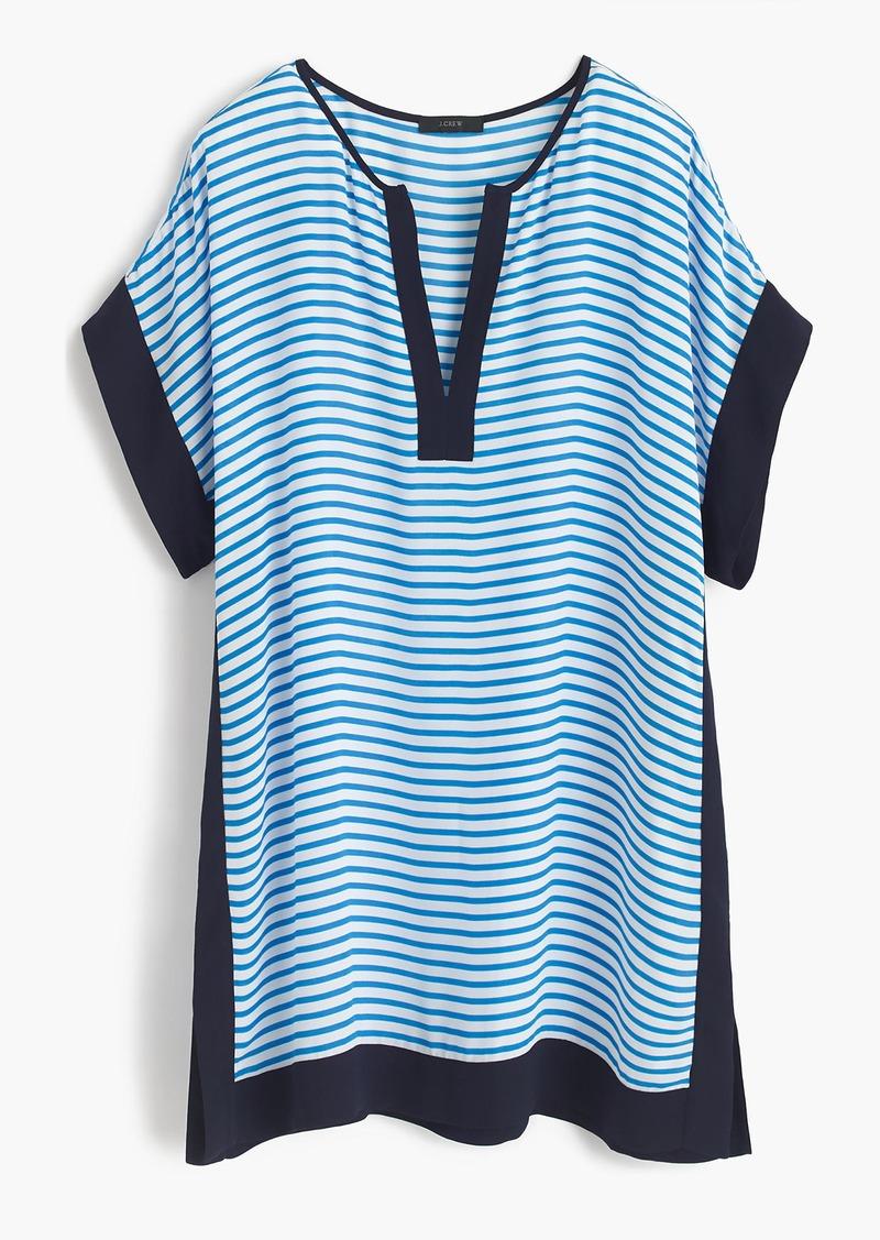 J.Crew Colorblock beach tunic in stripe