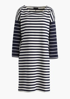 Colorblock stripe ponte dress