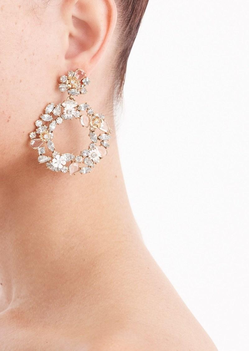 J.Crew Colorful floral hoop earrings