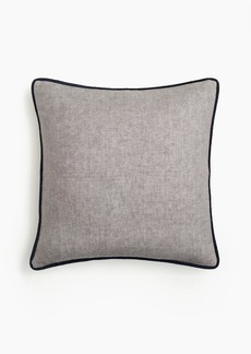 J.Crew Compono linen pillow with velvet piping