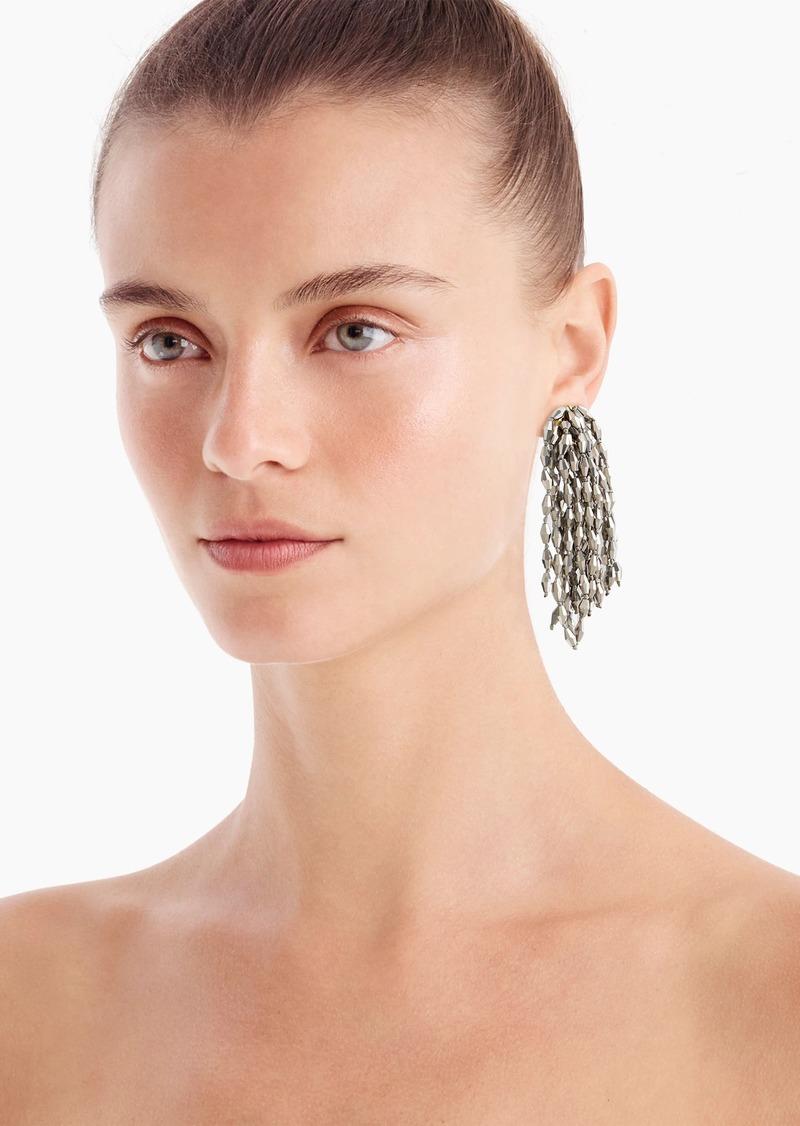 J.Crew Confetti bead statement earrings