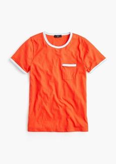 J.Crew Contrast slub cotton ringer T-shirt