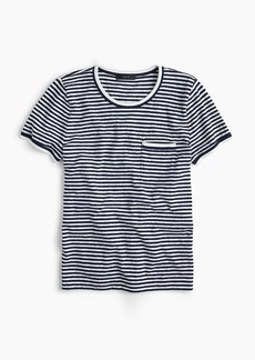 J.Crew Contrast slub cotton ringer T-shirt in stripes