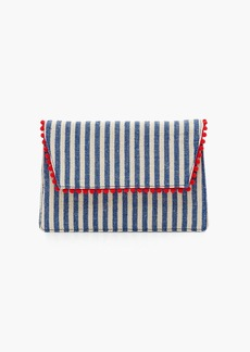 J.Crew Convertible envelope clutch in stripe