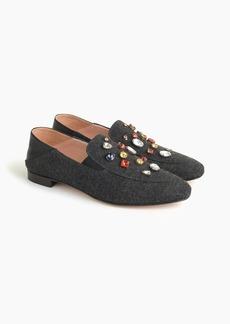 J.Crew Convertible smoking slippers in embellished wool