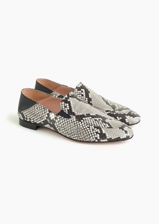 J.Crew Convertible smoking slippers in faux snakeskin