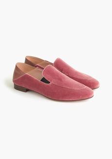 J.Crew Convertible smoking slippers in velvet