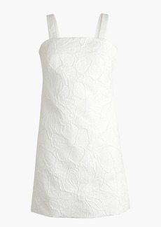 Convertible-strap dress in embossed floral