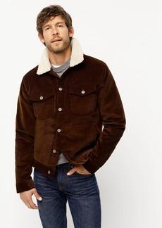 J.Crew Corduroy jacket with sherpa collar and eco-friendly PrimaLoft®