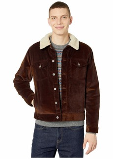 J.Crew Corduroy Jacket with Sherpa Collar and Eco-Friendly PrimaLoft®