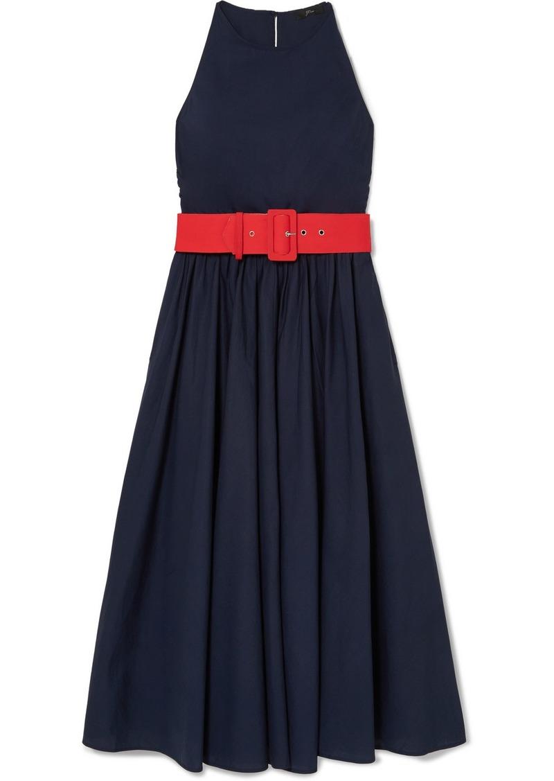 J.Crew Corinna Belted Cotton-poplin Midi Dress