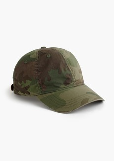 J.Crew Cotton camo ball cap