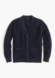 J.Crew Cotton-cashmere piqué cardigan sweater