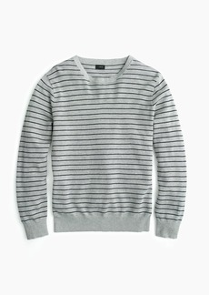 J.Crew Cotton-cashmere piqué crewneck sweater in stripe