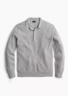 J.Crew Cotton-cashmere piqué polo sweater
