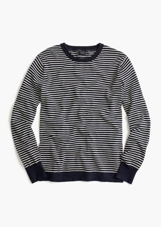 J.Crew Cotton crewneck in dark indigo stripe
