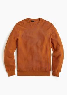 J.Crew Cotton crewneck sweater in garter stitch