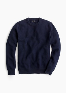 J.Crew Cotton crewneck sweater in moss stitch