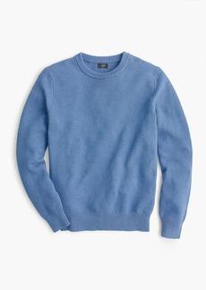 J.Crew Cotton crewneck sweater in moss stitch